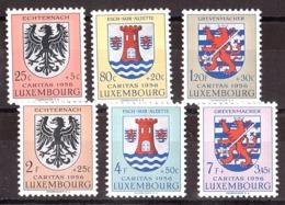 Luxembourg - 1956 - N° 520 à 525 - Neufs ** - Blasons - Neufs