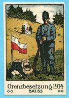 Karte Grenzbesetzung 1914 - Bat. 63 - Gest. Bataillon 63 - Poste Militaire