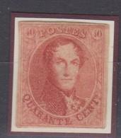 Timbre 40c  1861 N°12 Neuf Certif P. Kaiser Joint Prix Net - 1858-1862 Médaillons (9/12)