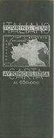 """3154 """" CARTA AUTOMOBILISTICA TOURING CLOUB - ITALIA CENTRO NORD """"  ORIGINALE 1952 - Carte Stradali"""