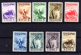 1937   Albanie, 25° Ans De L'Indépendance, 232 /240*, Cote 52 € - Albania