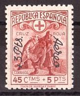 Espagne - 1938 - PA N° 187 - Neuf ** - TP Croix-Rouge Surchargé - Poste Aérienne