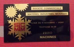 Plaque Métal Publicitaire Société Commerciale Matériel Industriel Ménager. Vichy. Froid Machines. Vers 1960 - Advertising (Porcelain) Signs