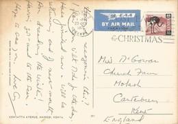 Kenya 1971 Nairobi Ostrich Viewcard - Straussen- Und Laufvögel