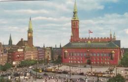 CARTOLINA - POSTCARD - DANIMARCA - COPENHAGEN - THE TOWN - HALL SQUARE - Danimarca
