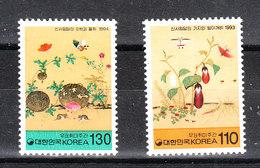 Corea Sud - 1993 -1994. Settimana Filatelica: Farfalle E Fiori. Philatelic Week: Butterflies And Flowers. MNH - Giornata Del Francobollo