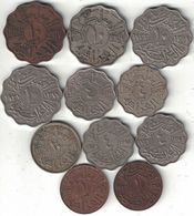 Iraq Kingdom Collection Of 11 Coins 1931-1953 All Listed & Different - Iraq