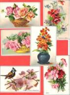 Lot 6 Chromos Bon Point Fleurs ,Mésange Et Pommier, Roses, Coquelicots, Giroflées, Oeillets - Chromos