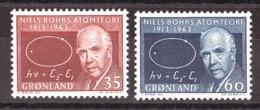 Groenland - 1963 - N° 53 Et 54 - Neufs ** - Niels Bohr - Ungebraucht