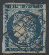 Lot N°47742  N°4a Bleu Foncé, Oblit Grille De 1849 - 1849-1850 Ceres