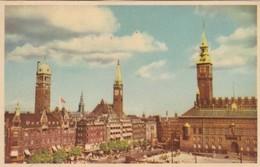 CARTOLINA - POSTCARD - DANIMARCA - COPENHAGEN - PART OF THE TOWN HALL SQUARE - Danimarca