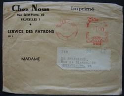 """LedDoc. 33. Lettre à Entête De """"Chez Nous"""" Service Des Patrons. 1 Franc 1968 - Franking Machines"""