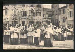 AK Monaco, Procession Ste-Devote, Presidee Par 1 Cardinal, 2 Archveques, 5 Eveques - Monaco