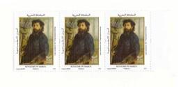 Maroc.  Bloc De 3 Timbres De 2019. Les Impressionnistes : Portrait De Claude Monet Par Renoir - Impressionisme