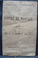 DH. 109. Commune De Roucourt. Carnet De Mariage De Dombert Jean Bte Joseph Et Sidonie Leclercq De 1893 - Documents Historiques