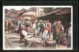 AK Sarajewo, Szenen Am Wochenmarkt, Getreideverkauf - Bosnie-Herzegovine