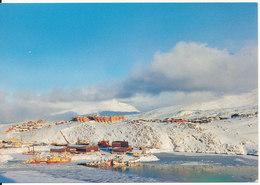 Greenland Postcard Sent To Denmark Kangerlussuaq 19-3-1993 (Nordhavnen Nuuk) - Greenland