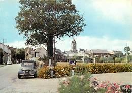 -gds Formats -ref-Y933- Aveyron - La Salvetat Peyralles -vue Generale- Voiture 2 Cv Citroën - Pub Michelin -automobile - - Andere Gemeenten
