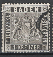 Germania Baden 1860 Unif.9 O/used VF/F - Baden