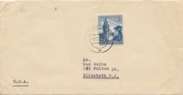 Deutsches Reich - 1938 - 25Pf Winterhilfswerk On Cover From Arnstadt To New York / USA - Germany