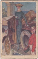 X. VAUZAN. Femme Et Automobile - Ilustradores & Fotógrafos