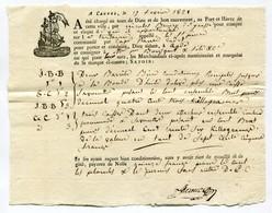 !!! CONNAISSEMENT DE CANNES DE 1821 CHARGEMENT HUILE D'OLIVE - Old Paper