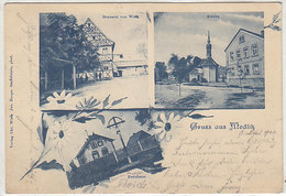 Gruss Aus Medlitz - Stempel Der Posthilfstelle - 1900     (190410) - Autres