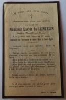 Fresnes Sur Escaut - Neuville Sur Escaut : Image Mortuaire DE HEINZELIN DE BRAUCOURT Xavier (X FLAMENT Célina) - Décès