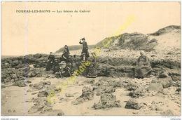 17. FOURAS LES BAINS .  Les Falaises Du Cdoret .  CPA Animée . - Fouras-les-Bains