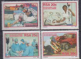 Afrique Du Sud N° 599 / 602 XX  : Don Du Sang Et Transfusion Sanguine, Les 4 Valeurs Sans Charnière, TB - Afrique Du Sud (1961-...)