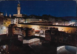TOSCANA - FIRENZE - NOTTURNO PONTE VECCHIO - VIAGGIATA - Firenze