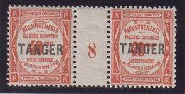 MAROC : N° T 45 *. PAIRE MILLESIME . 1918 . - Segnatasse