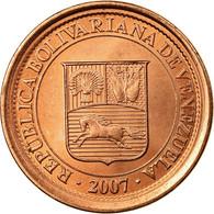 Monnaie, Venezuela, 5 Centimos, 2007, Maracay, TTB, Copper Plated Steel, KM:88 - Venezuela