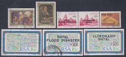 Afrique Du Sud N° 613 + 631 / 37 X, O  : Les 8 Valeurs  Trace De Charnière Ou Oblitérées Sinon TB - Afrique Du Sud (1961-...)