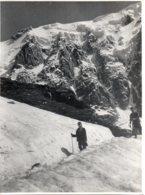 Photo Le Glacier Des Pèlerins Dans Les Alpes à Chamonix, Format 18/24 Tirage Années 50. - Plaatsen
