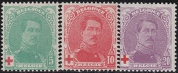 Belgie    .    OBP   .    129/131      .   **     .   Postfris     .  / .    Neuf SANS Charniere - 1914-1915 Cruz Roja