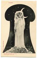 """CPA  BERGERET  Femme  - Art Nouveau  """" La Nuit  """" - Bergeret"""