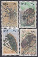 Afrique Du Sud N° 618 / 21  O  : Faune : Insectes. Les 4 Valeurs Oblitérations Moyennes Sinon TB - Afrique Du Sud (1961-...)