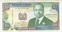 Kenia - Kenya 10 Shillings 1-7-1993 Pk 24 E Firma 10a Ref 1 - Kenia