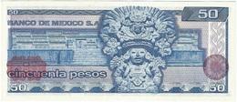 México 50 Pesos 17-5-1979 Pk 67 B.GR Sello  Rojo-marrón En Reverso UNC - México