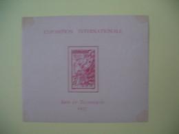Bloc Feuillet Niger Exposition Internationale - Arts Et Techniques  1937  N° 1  à Voir Neuf** - 1937 Exposition Internationale De Paris