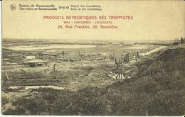 Ruines  De  Ramscapelle 1914-18 -- Aspect Des Inondations. (Publicité)    (2 Scans) - Nieuwpoort