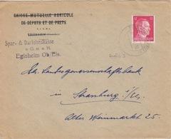 P Lettre à Entête (S.u.D. Egisheim) Obl Eguisheim (T329 Egisheim Oberels A) Sur TP Reich 12pf=1°éch Le 30/10/42 - Marcophilie (Lettres)