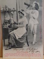 CPA  BERGERET . RECETTE CREME à PUDDING . 1903 . FEMME CHEF CUISINE .cooking  RECIPE PUDDING CREAM. WOMAN   EARLY PC - Recettes (cuisine)