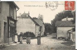 Rare CPA - Villers Farlay - Rue De La Fontaine - Animée - Karrer édition - Villers Farlay