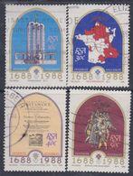 Afrique Du Sud N° 644 / 47  O  : Tricentenaire De L'arrivée Des Premiers Huguenots. Les 4 Vals Oblité. Moyennes Sinon TB - Afrique Du Sud (1961-...)
