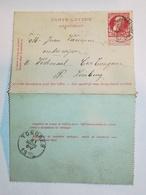 Carte Lettre 10c Relais Houppertingen - Cartes-lettres