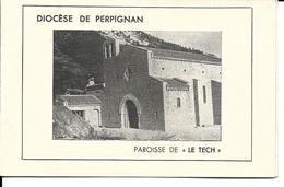 """66 - Perpignan - Paroisse De """"Le Tech"""" - Baptême De 2 Cloches (carte Double) - Perpignan"""