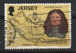 Ref: 1340. Jersey. 1976. Sir George Cateret Y Viejo Mapa De Nueva Jersey. - Jersey