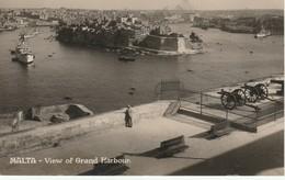 Malte  Valletta Wiew Of Grand Harbour - Malte